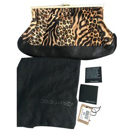 Dsquared2-Sacs à main-Imprimé léopard
