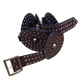 Yves Saint Laurent-Ceinture vintage-Marron