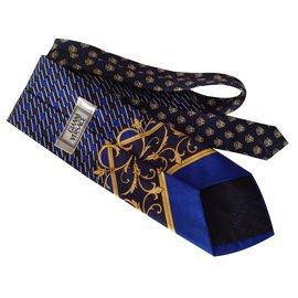 Versace-Collector grand or tête Méduse-Bleu Marine