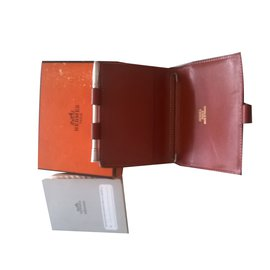 Hermès-couverture d'agenda-Orange