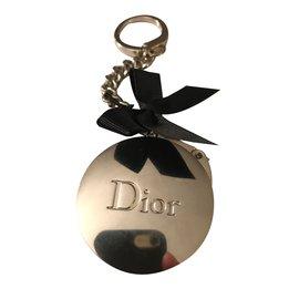 Dior-Accroche sac / porte clefs DIOR-Argenté