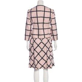 Christian Dior-Tailleur jupe-Noir,Rose