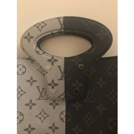 Louis Vuitton-Split Monogram Silver/Reflective and Monogram Eclipse-Argenté,gris anthracite