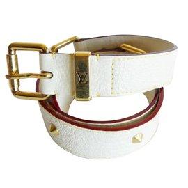 Louis Vuitton-Ceintures-Blanc cassé