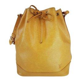Louis Vuitton-Grand sac modèle Noé e-Jaune