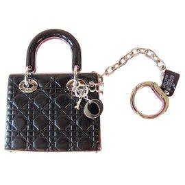 Dior-Bijoux de sac-Noir