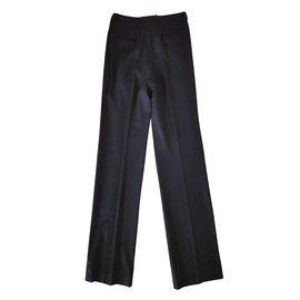 Yves Saint Laurent-Pantalons-Noir