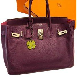 Hermès-Birkin 35-Violet