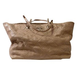 Chanel-On the Road Tote Bag-Beige
