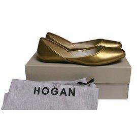 Hogan-Ballerines-Doré