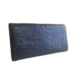 Chanel-Portefeuilles-Bleu Marine