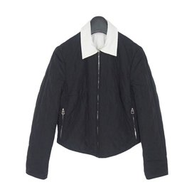 Hermès-Hermes Quilted Reversible  Jacket-Black,White