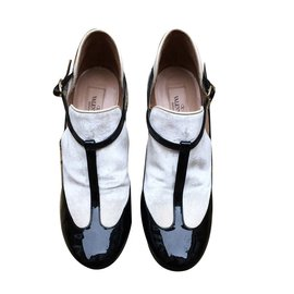 Valentino-Escarpins-Noir,Blanc