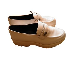 Karl Lagerfeld-loafers-Blanc