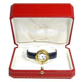 Cartier-CARTIER Montre Trinity - 3 ors-Bleu,Doré