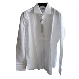 Emanuel Ungaro-Ungaro brand new canvas cotton shirt-White