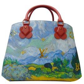 Louis Vuitton-Sac Louis Vuitton Montaigne Van Gogh à bandoulière série très limitée, état neuf !-Blanc,Bleu,Vert