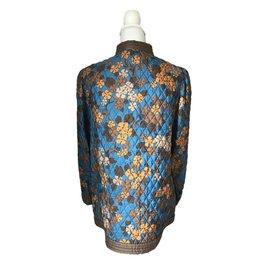 Yves Saint Laurent-SAINT LAURENT  Veste matelassée à imprimé floral-Multicolore