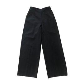 Yves Saint Laurent-YVES SAINT LAURENT Pantalon-Bleu