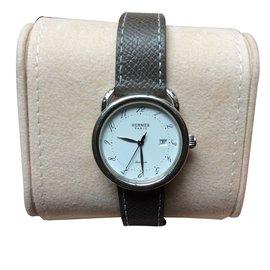 Hermès-Modèle Arceau, 32 mm, montre automatique-Argenté