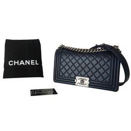 ... Chanel-SAC CHANEL BOY MEDIUM-Bleu 2dbedf1ee6