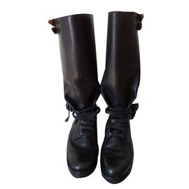 Polo Ralph Lauren-Cavalières cuir-Noir