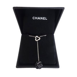 Chanel-Pendant necklaces-Black,White