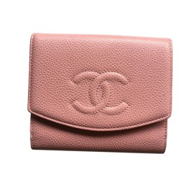 Chanel-Portefeuille CHANEL caviar rose NEUF JAMAIS PORTE-Rose ... 9cd302946b9