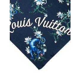 Louis Vuitton-Carrés-Bleu