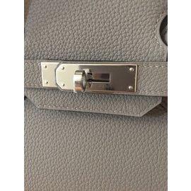 Hermès-Birkin 30 cm-Gris