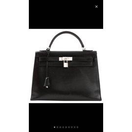 Hermès-Hermes kelly 32 sellier-Noir