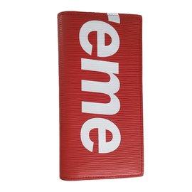 Louis Vuitton-Purses, wallets, cases-Red