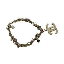 Chanel-Bracelet double CC-Argenté