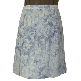 Chanel-Skirts-White,Blue