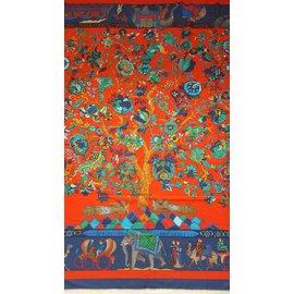 Hermès-Etole Hermès cachemire et soie Vintage-Multicolore