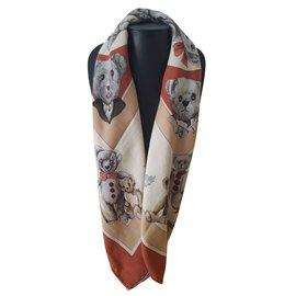 Hermès-Foulard Hermès en cachemire Vintage-Autre