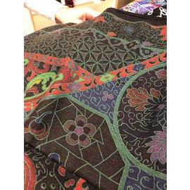 Hermès-Châle neuf de la maison Hermés-Noir,Multicolore