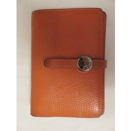 Hermès-Hermès agenda/porte cartes Dogon-Orange