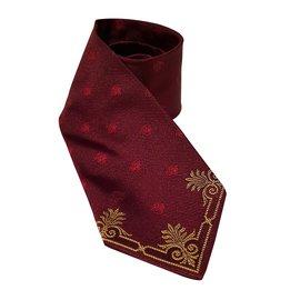 Versace-Cravates-Bordeaux