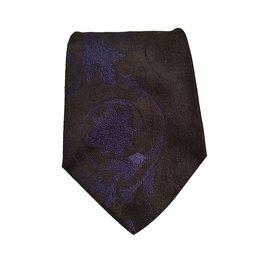 Versace-Cravates-Bleu Marine