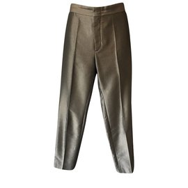Gucci-Pantalons-Vert olive
