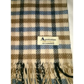 Aquascutum-Men Scarves-Brown,Blue,Beige