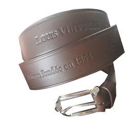 Louis Vuitton-Belts-Dark brown