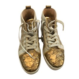 Christian Louboutin-Sneakers-Golden