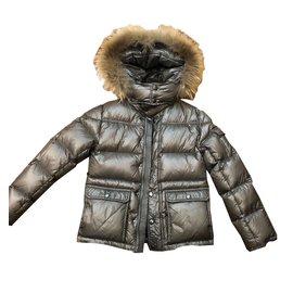 Moncler-Boy Coats Outerwear-Silvery