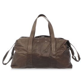 Maison Martin Margiela-Brand new duffle leather bag-Brown