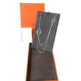 Hermès-Attelage  Hermès Long necklaces-Silvery