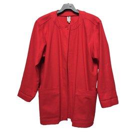 Emanuel Ungaro-Manteau veste rouge Ungaro en laine-Rouge