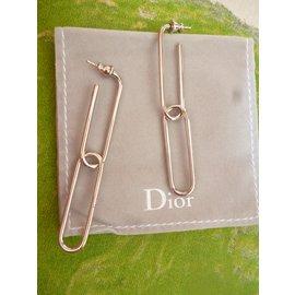 Dior-Boucles d'oreilles Mail-Argenté