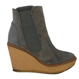 Rebecca Minkoff-Rebecca Minkoff  Wedge Sole Boots-Grey